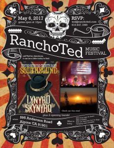 Rancho Ted Music Fest Flier